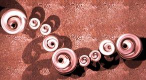 куски металла красного цвета ювелирных изделий Стоковые Изображения RF