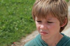 сердитый мальчик Стоковое Изображение