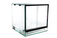 动物空的宠物坦克玻璃容器 免版税库存照片