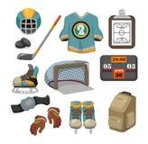 曲棍球冰图标集合向量 免版税库存照片