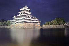 马塔莫罗斯城堡在马塔莫罗斯,日本 免版税库存图片