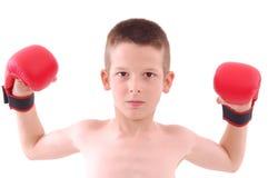 拳击手男孩一点 免版税图库摄影