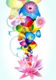 抽象背景设计花卉液体行动 免版税库存照片