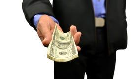χρήματα χεριών Στοκ εικόνα με δικαίωμα ελεύθερης χρήσης