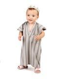 婴孩愉快的矮小的穆斯林 免版税图库摄影
