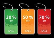 цветастые бирки цены со скидкой Стоковая Фотография RF