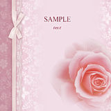 框架邀请玫瑰色婚礼 免版税库存图片