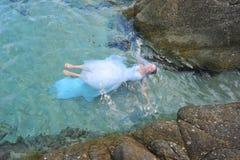 新娘美人鱼 库存照片