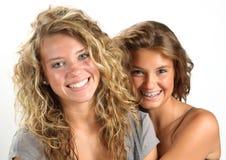 κορίτσια ευτυχή Στοκ φωτογραφία με δικαίωμα ελεύθερης χρήσης