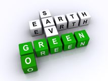地球去绿色除之外 库存照片