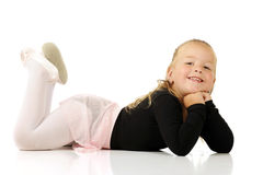 芭蕾舞女演员鼓起她微小 库存图片
