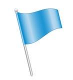 μπλε καρφίτσα σημαιών Στοκ Εικόνα