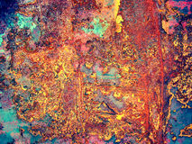 χρωματισμένο σίδηρος φύλλο σκουριάς Στοκ Φωτογραφία