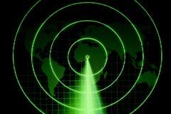 绿色雷达 免版税库存照片