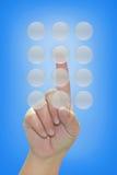 ώθηση χεριών κουμπιών Στοκ Εικόνα