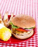 汉堡鲜美火鸡 免版税库存图片