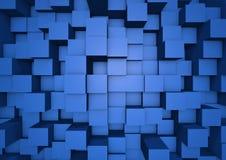 抽象多维数据集墙壁 免版税库存照片