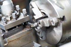 空白用机器制造的金属进程 库存图片
