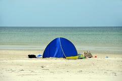 海滩帐篷 免版税库存图片