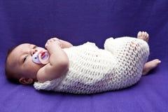 婴孩换行 免版税库存图片