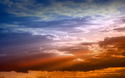 красивейшее небо Стоковая Фотография