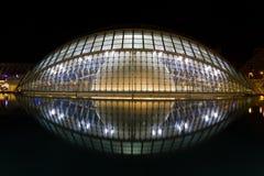 艺术城市科学西班牙巴伦西亚 免版税库存照片