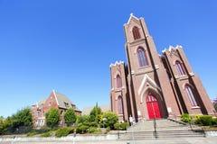 老砖教会 库存照片