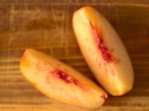 ломтики персика Стоковые Изображения RF
