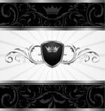 华丽黑暗的装饰的框架 免版税库存照片