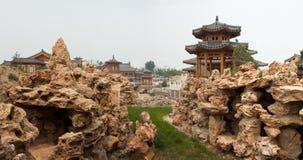 中国古典庭院 免版税库存图片