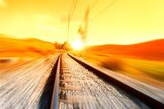 поезд рельса Стоковое Изображение RF