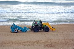 чесальщик пляжа Стоковая Фотография RF