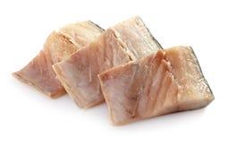 新鲜的鲭鱼片原始 库存照片