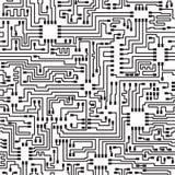 电子喂模式无缝的技术向量 免版税图库摄影