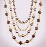 ожерелье золота Стоковые Изображения RF