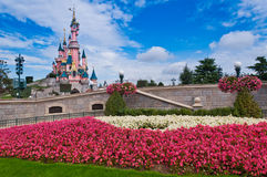 秀丽城堡迪斯尼乐园巴黎手段休眠 免版税库存照片