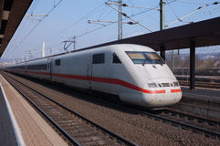 быстрый немецкий поезд Стоковая Фотография