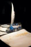 Стародедовский комплект чернил-сочинительства Стоковая Фотография