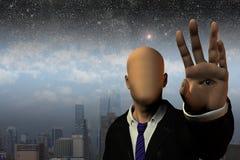 超现实的人 免版税库存照片