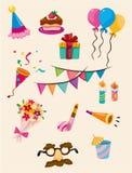 икона шаржа дня рождения Стоковое Изображение RF