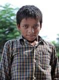 黑色男孩印地安人 图库摄影