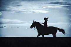 езда лунного света Стоковое Изображение