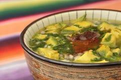 суп лука мяса авокадоа Стоковая Фотография