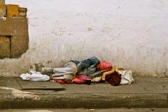 哥伦比亚贫穷 免版税库存图片