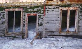 南极洲欺骗海岛废墟 图库摄影