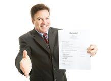 申请人确信的工作 库存图片
