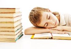 таблица сна мальчика Стоковое Изображение RF