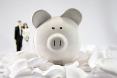 金融期货婚姻 免版税库存照片