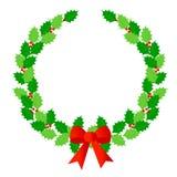 圣诞节月桂树花圈 免版税库存照片
