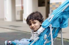 儿童愉快的微笑的小孩 图库摄影